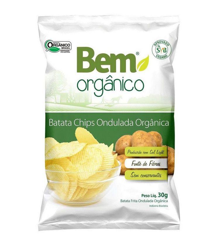 Batata Chips Ondulada 30g - Bem Orgânico