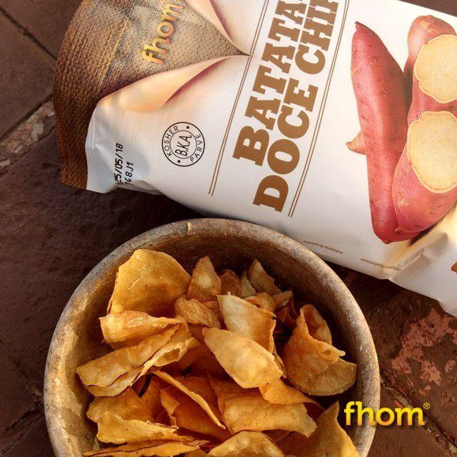 Batata Doce Chips 45g - fhom