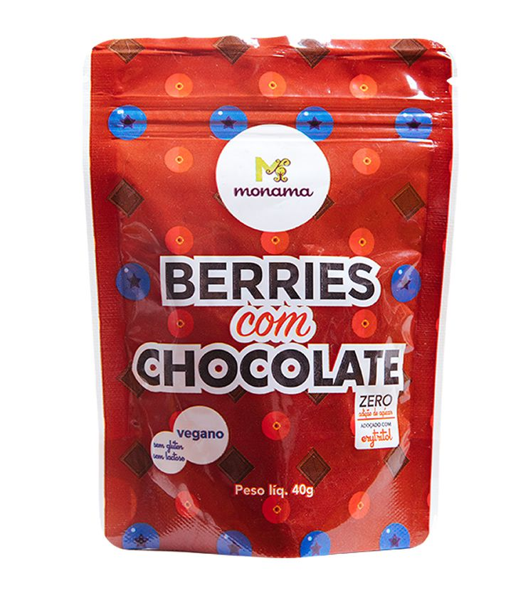 Berries com Chocolate 40g - Monama