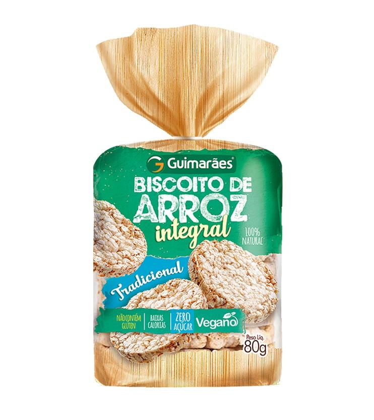 Biscoito de Arroz Integral 80g - Guimarães