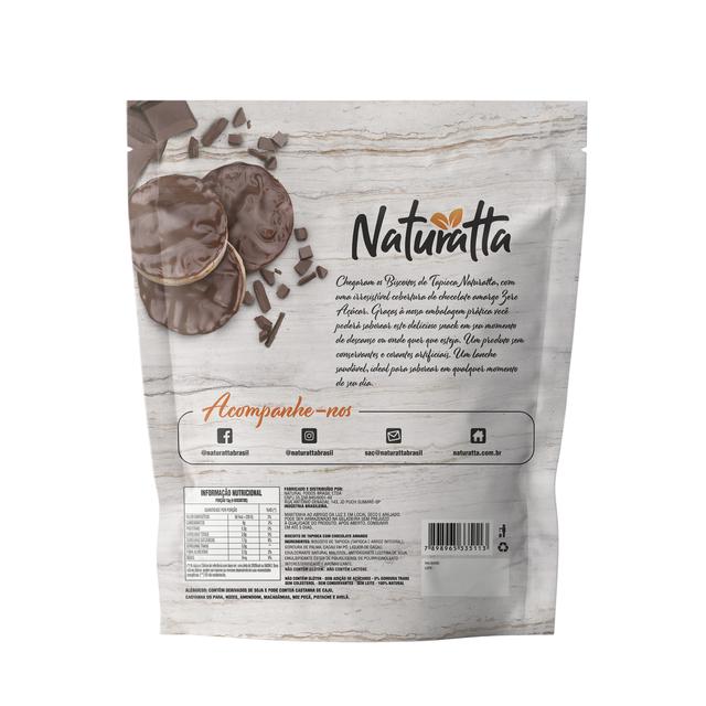 Biscoito de Tapioca com Chocolate Amargo Zero açúcar 60g - Naturatta