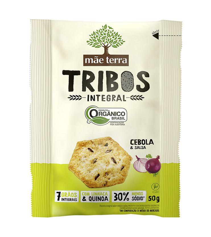Biscoito Tribos Cebola e Salsa Orgânico 50g - Mãe Terra