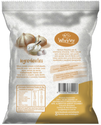 Biscoitos fit sabor Suspiros com Whey protein 25g - WheyViv Fit