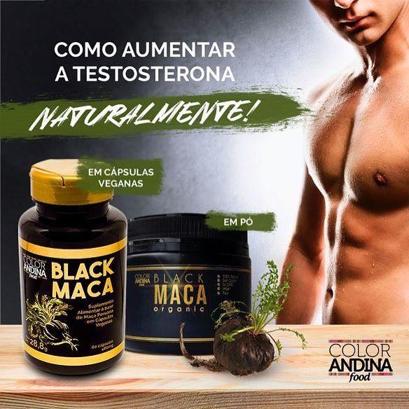 Black Maca - Maca Peruana Preta Pura Orgânica 60 Cápsulas - Color Andina