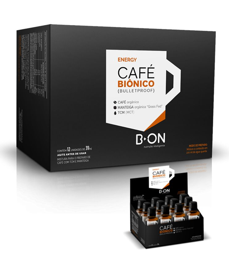 Café Biônico BulletProof Coffee Caixa com 12unid X 39ml - B-ON