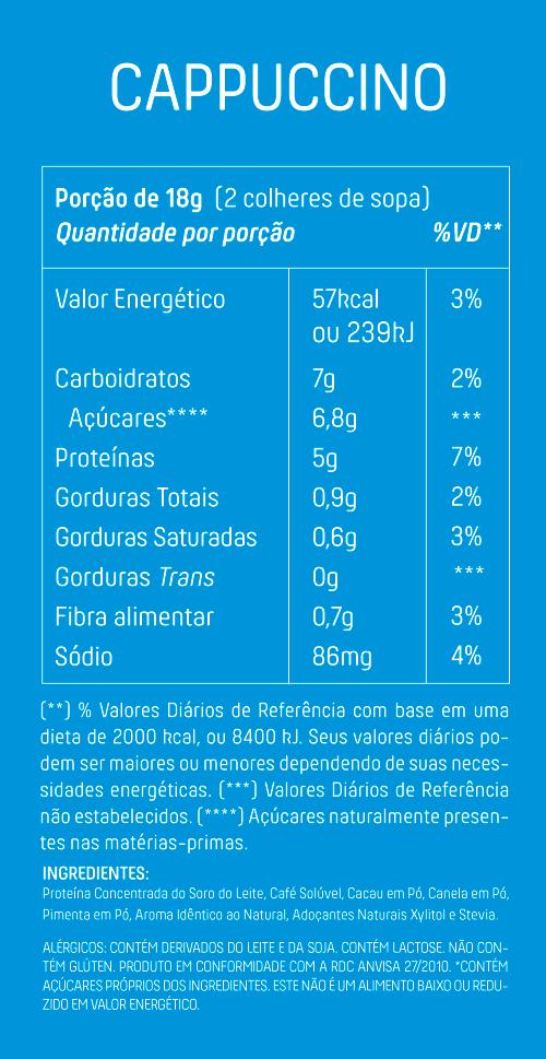 Cappuccino Proteico com Whey Café Canela e Pimenta 200g - Mais Mu