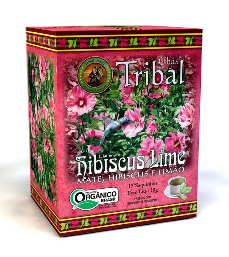 Chá Orgânico Hibiscus Lime 15 saquinhos 30g - Tribal Brasil