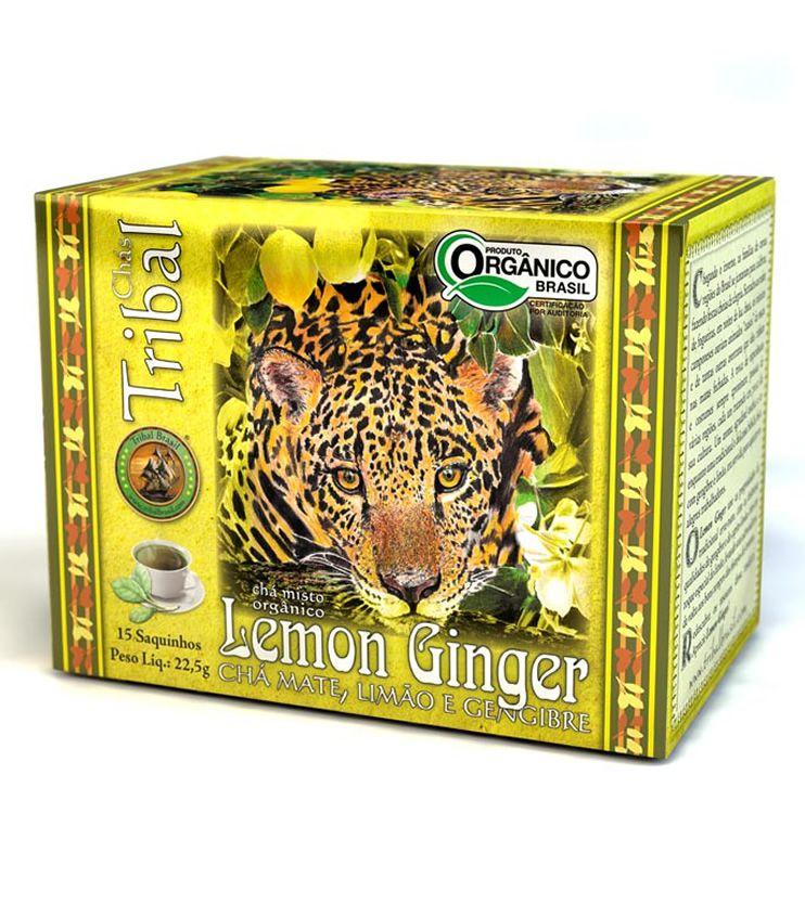 Chá Orgânico Lemon Ginger 15 saquinhos 30g - Tribal Brasil