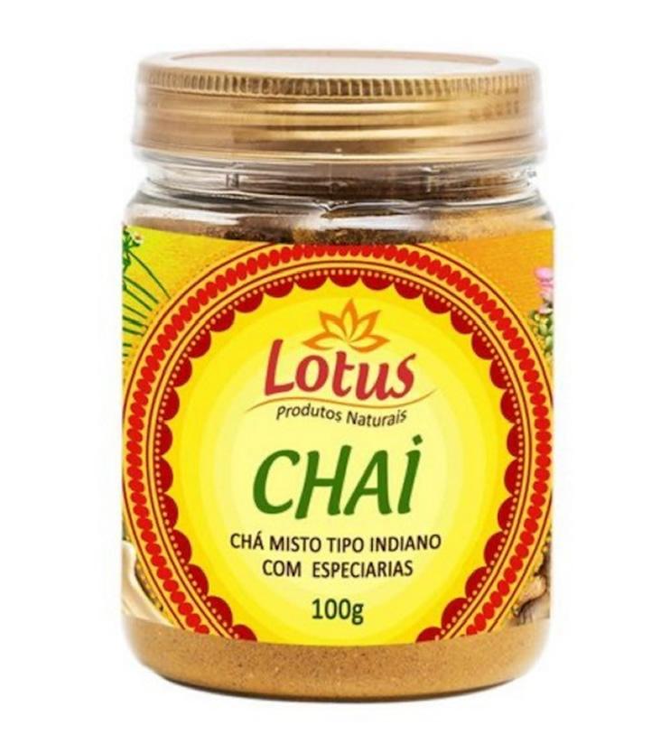 Chai - Chá misto tipo indiano com especiarias aromáticas 100g - Lotus