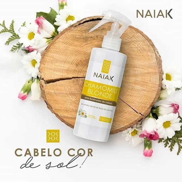 Chamomile Blonde Spray Iluminador para os Cabelos 150ml - Naiak