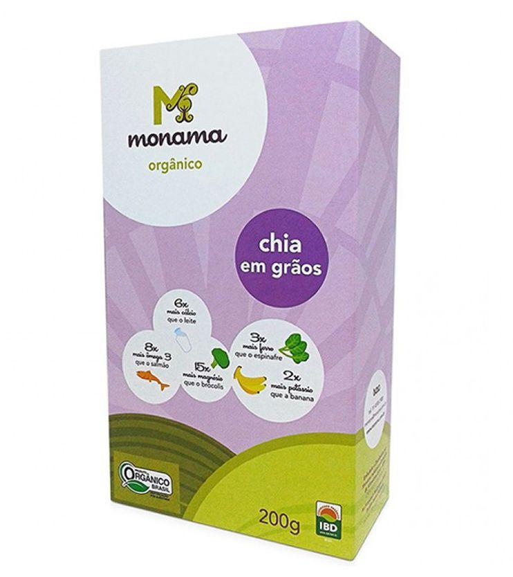 Chia Orgânica em Grãos 200g - Monama