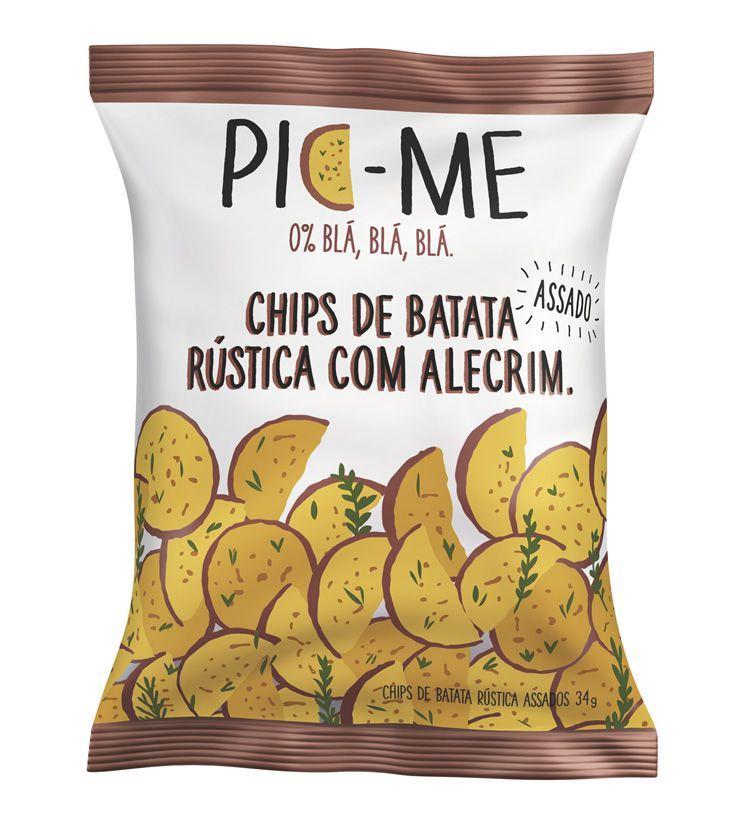 Chips de Batata rústica com Alecrim 34g - Pic Me