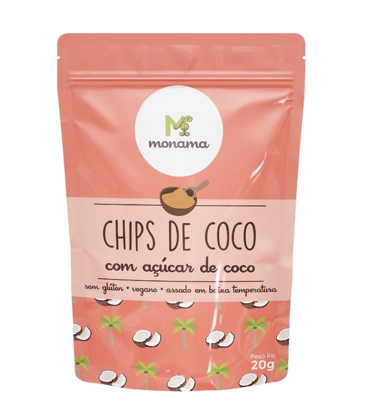 Chips de Coco com Açúcar de Coco 20g - Monama