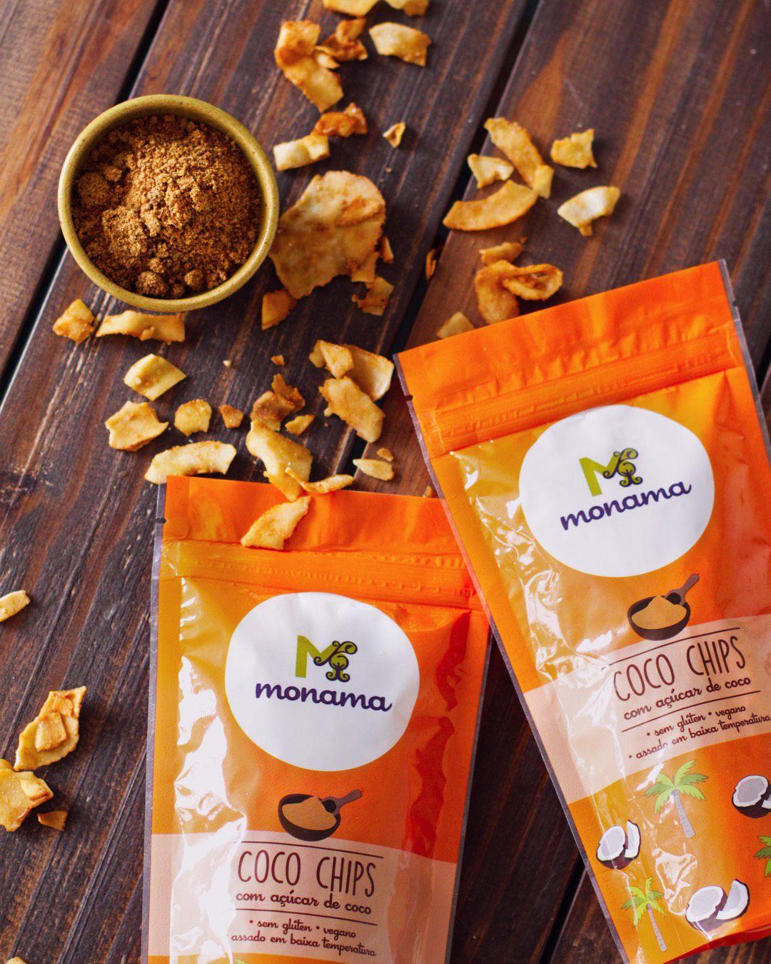 Chips de Coco com Ácúcar de Coco 45g - Monama