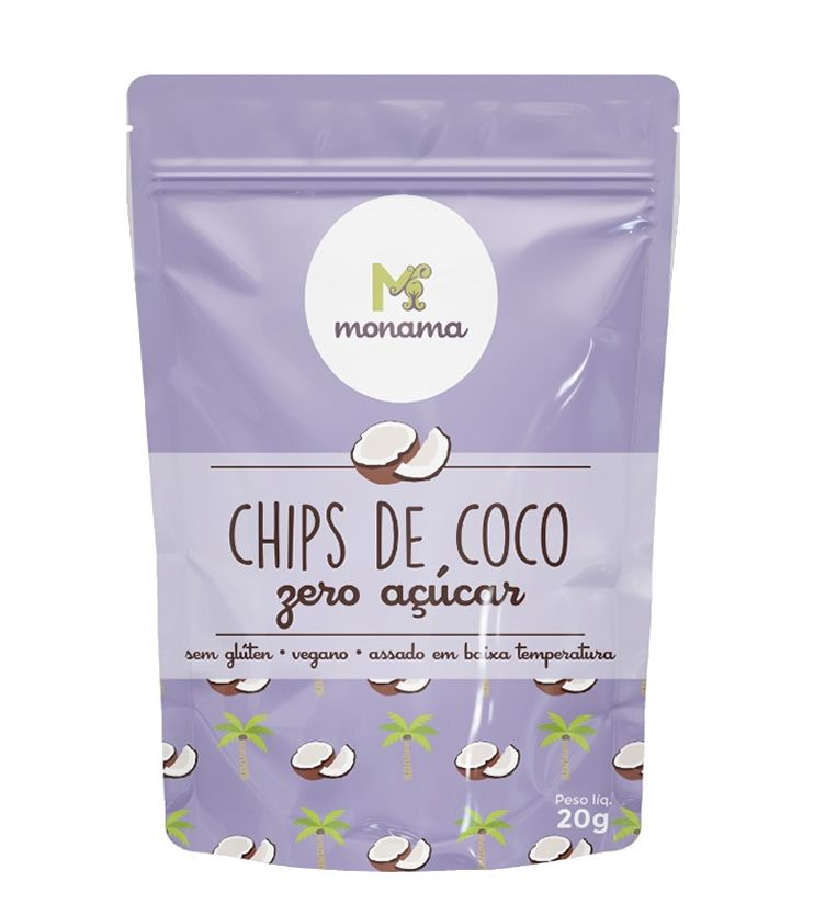 Chips de Coco Zero açúcar 20g - Monama