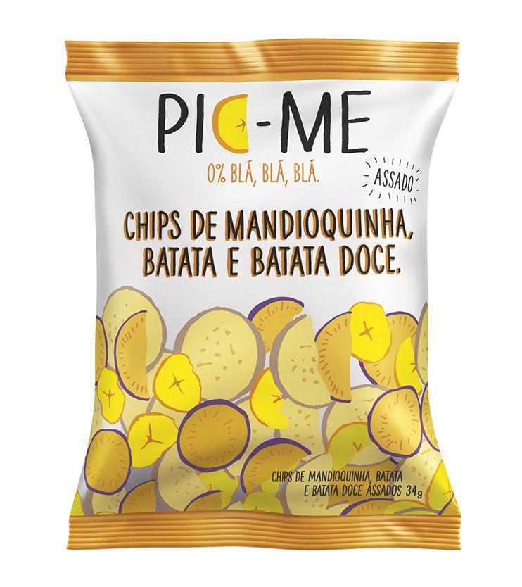 Chips de Mandioquinha, Batata e Batata doce 34g - Pic Me