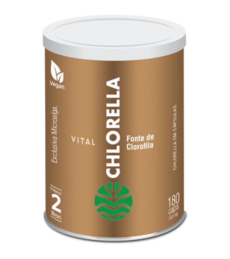 Chlorella 180 cápsulas 530mg - Vital Âtman