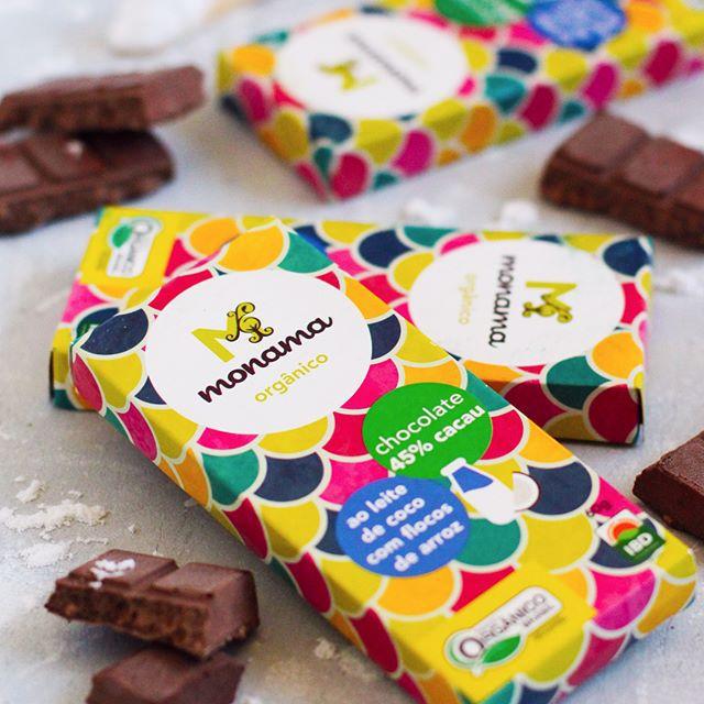 Chocolate 45% Orgânico ao Leite de Coco com flocos de arroz 60g - Monama