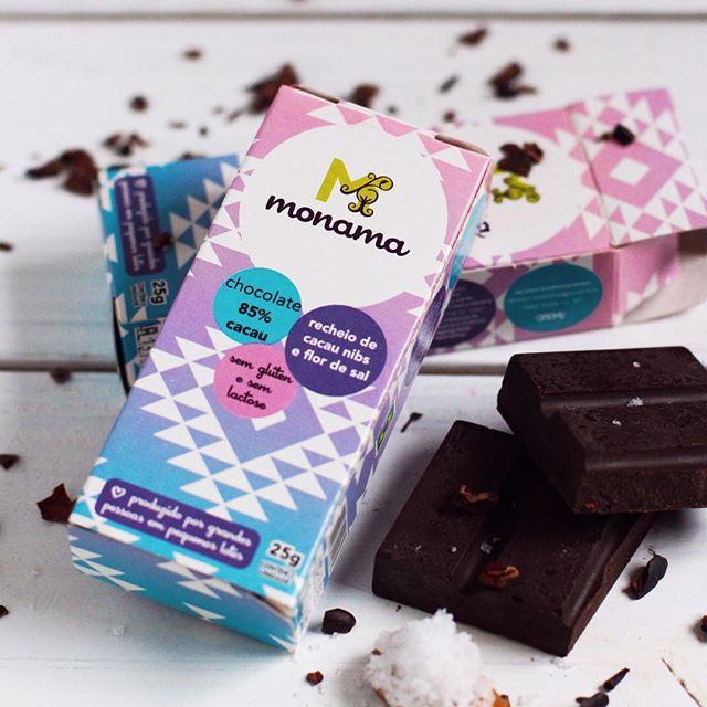 Chocolate 55% Cacau nibs e Flôr de sal 25g - Monama