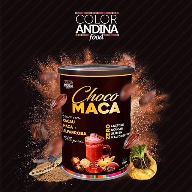 ChocoMaca com Cacau, Maca Peruana e Alfarroba 200g - Color Andina