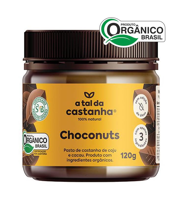 Choconuts - Pasta de Castanha de Caju e Cacau Orgânica 120g - A tal da Castanha