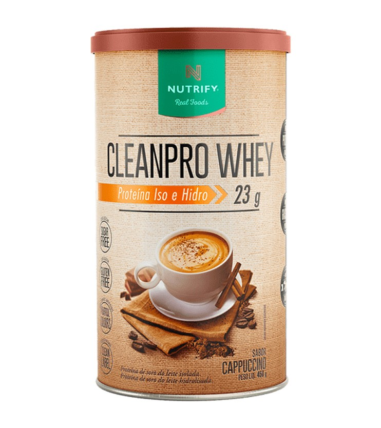 CLEANPRO Whey Sabor Cappuccino 450g - Nutrify