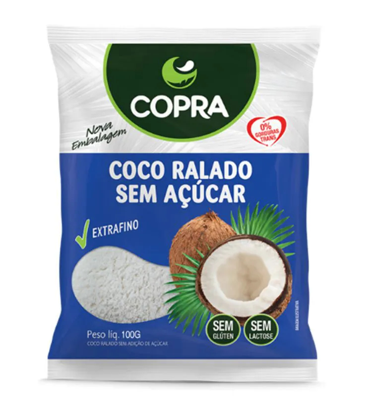 Coco Ralado sem açúcar 100g - Copra