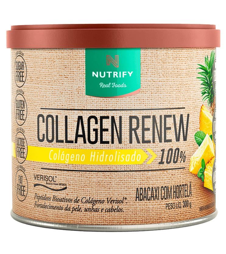 Collagen Renew Verisol Colágeno Hidrolizado Sabor Abacaxi com Hortelã 300g - Nutrify