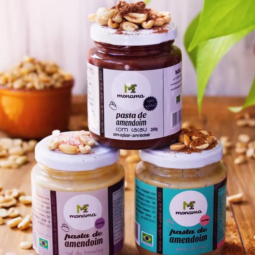 COMBO -  3 sabores de Pastas de Amendoim - Monama Orgânicos