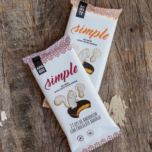 Cups de Amendoim com Chocolate Amargo 40g - Simple