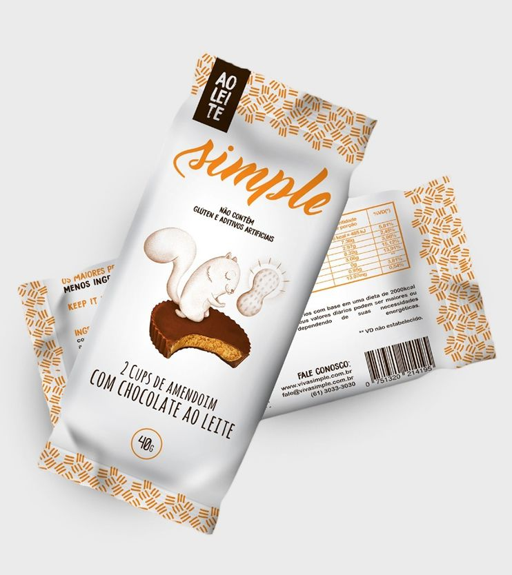 Cups de Amendoim com Chocolate ao Leite 40g - Simple