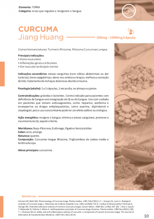CÚRCUMA Jiang Huang 60 cápsulas de 500mg cada - Vitafor