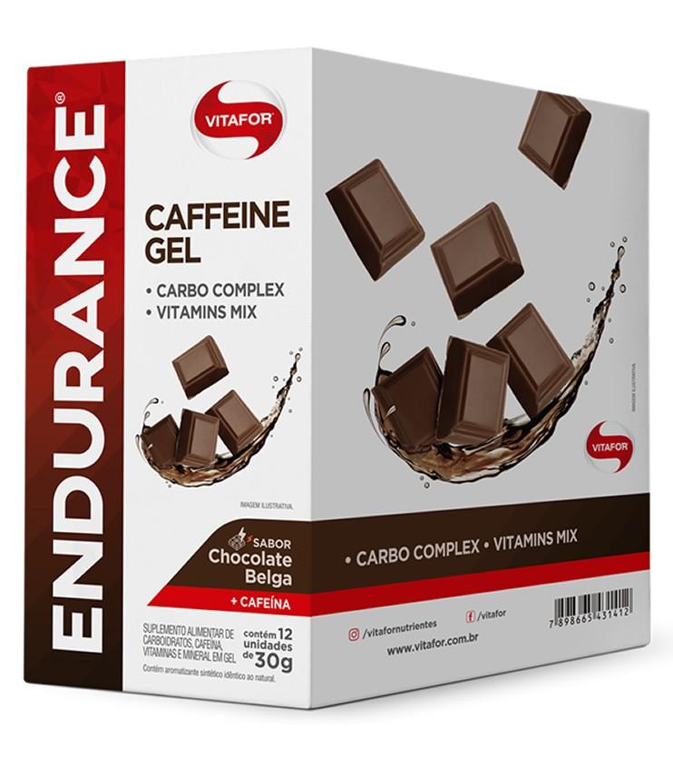 Endurance Caffeine Gel Sabor Chocolate Belga Caixa com 12 Sachês 30g cada - Vitafor