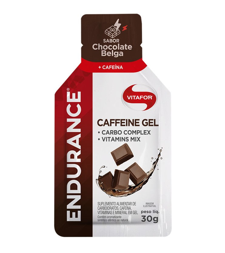 Endurance Caffeine Gel Sabor Chocolate Belga Sachê 30g - Vitafor
