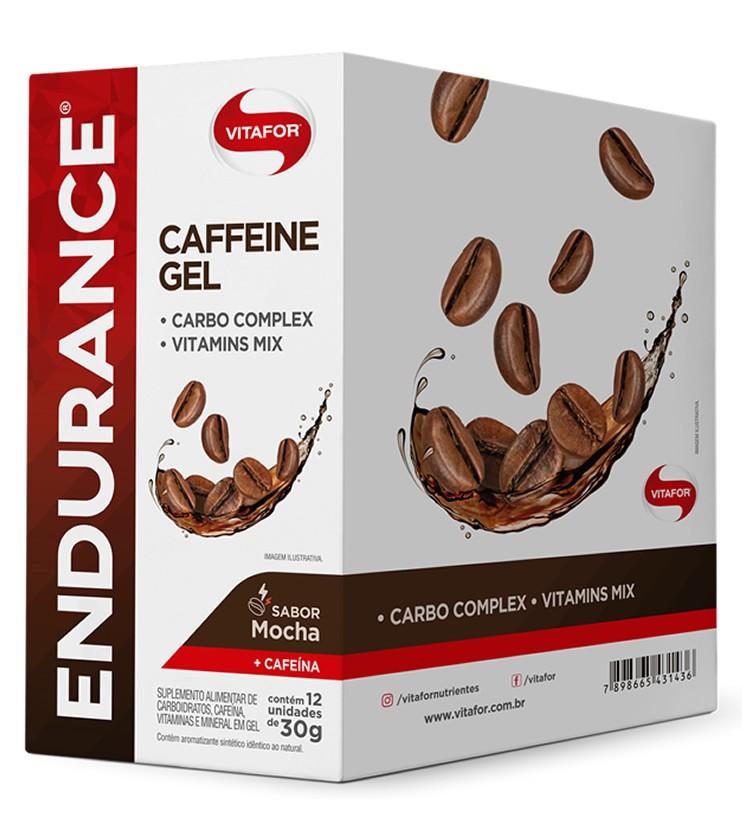 Endurance Caffeine Gel Sabor Mocha Caixa com 12 Sachês 30g cada - Vitafor