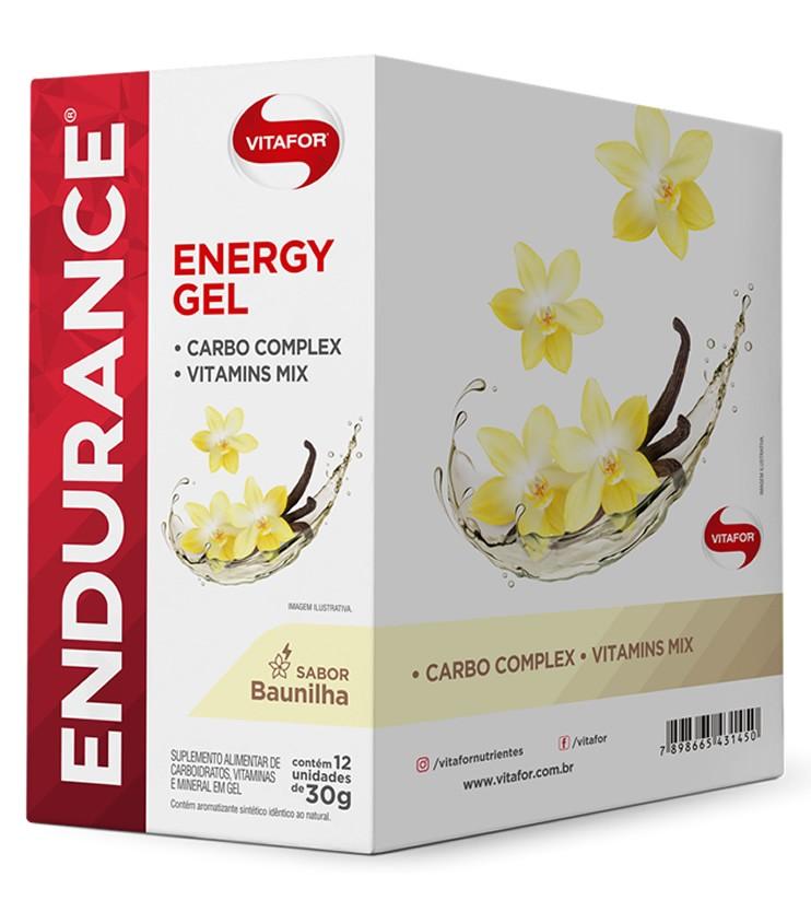 Endurance Energy Gel Sabor Baunilha Caixa com 12 Sachês 30g cada - Vitafor