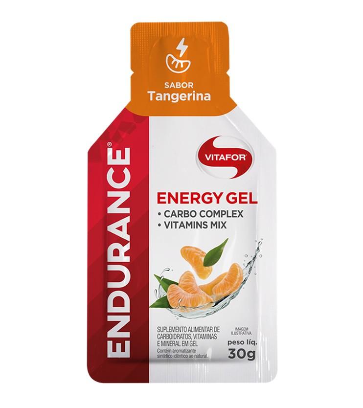 Endurance Energy Gel Sabor Tangerina Caixa com 12 Sachês 30g cada - Vitafor