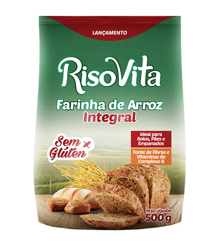 Farinha de Arroz Integral 500g - RisoVita
