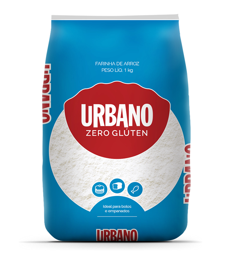 Farinha de Arroz Zero Glúten 1kg - Urbano