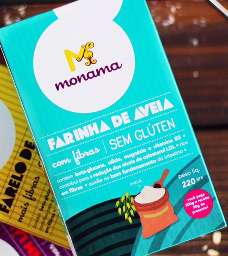 Farinha de Aveia Sem glúten 220g - Monama