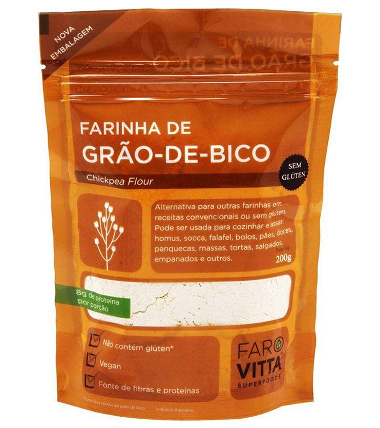 Farinha de Grão de Bico 200g - Farovitta Superfoods