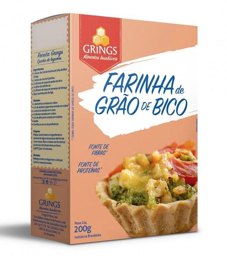 Farinha de Grão de Bico 200g - Grings Alimentos Saudáveis