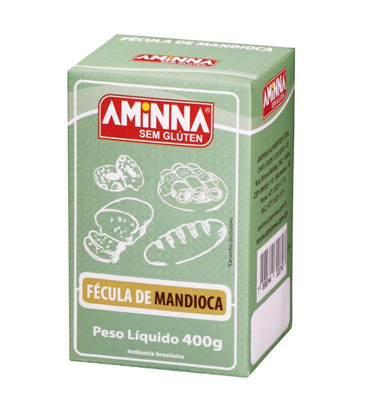 Fécula de Mandioca sem Glúten 400g  - Aminna