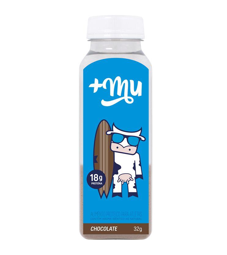 Garrafinha +Mu Tradicional Sabor Chocolate  32g - Mais Mu