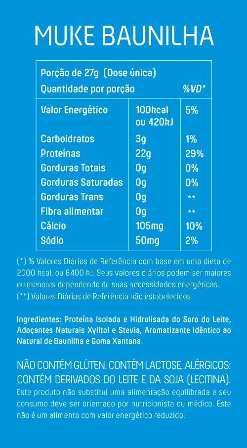 Garrafinha Muke com Proteína Isolada e Hidrolisada Sabor Baunilha 27g - Mais Mu