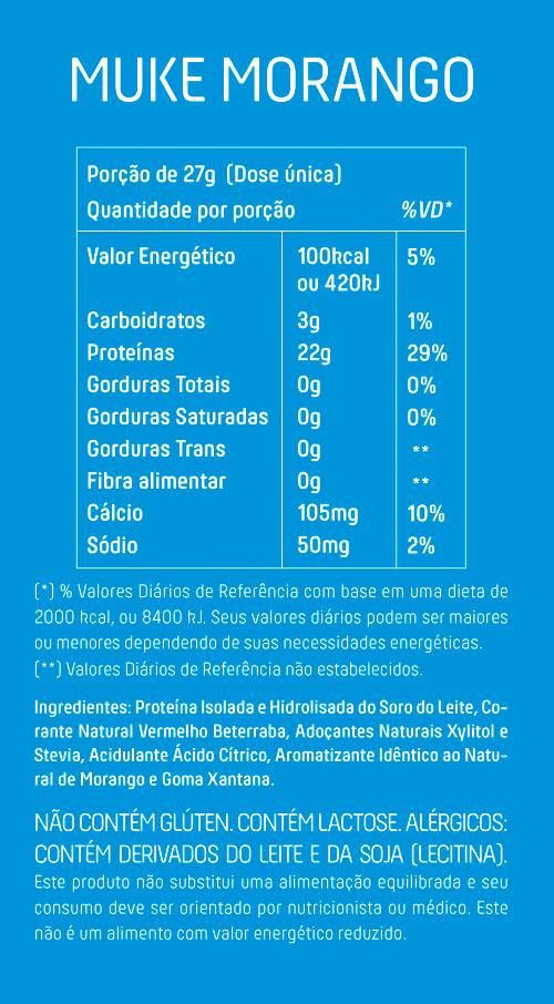 Garrafinha Muke com Proteína Isolada e Hidrolisada Sabor Morango 27g - Mais Mu
