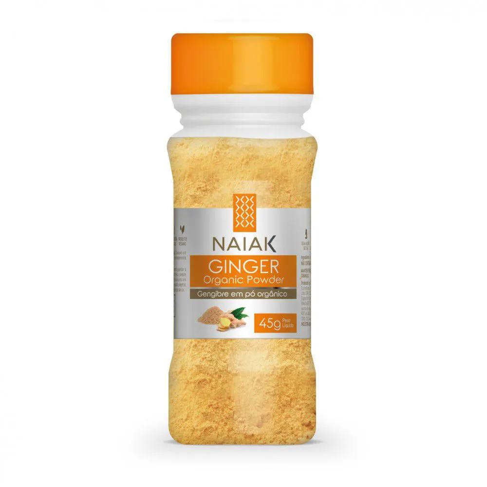 Gengibre em pó orgânico 45g Ginger Organic Powder - Naiak