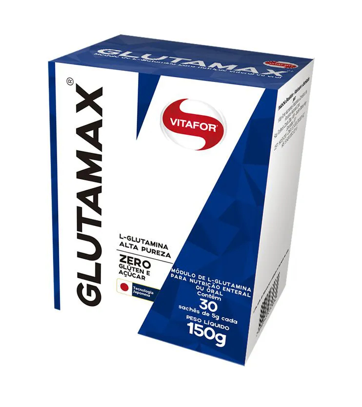 GLUTAMAX 100% L-Glutamina 150g 30 sachês de 5g - Vitafor