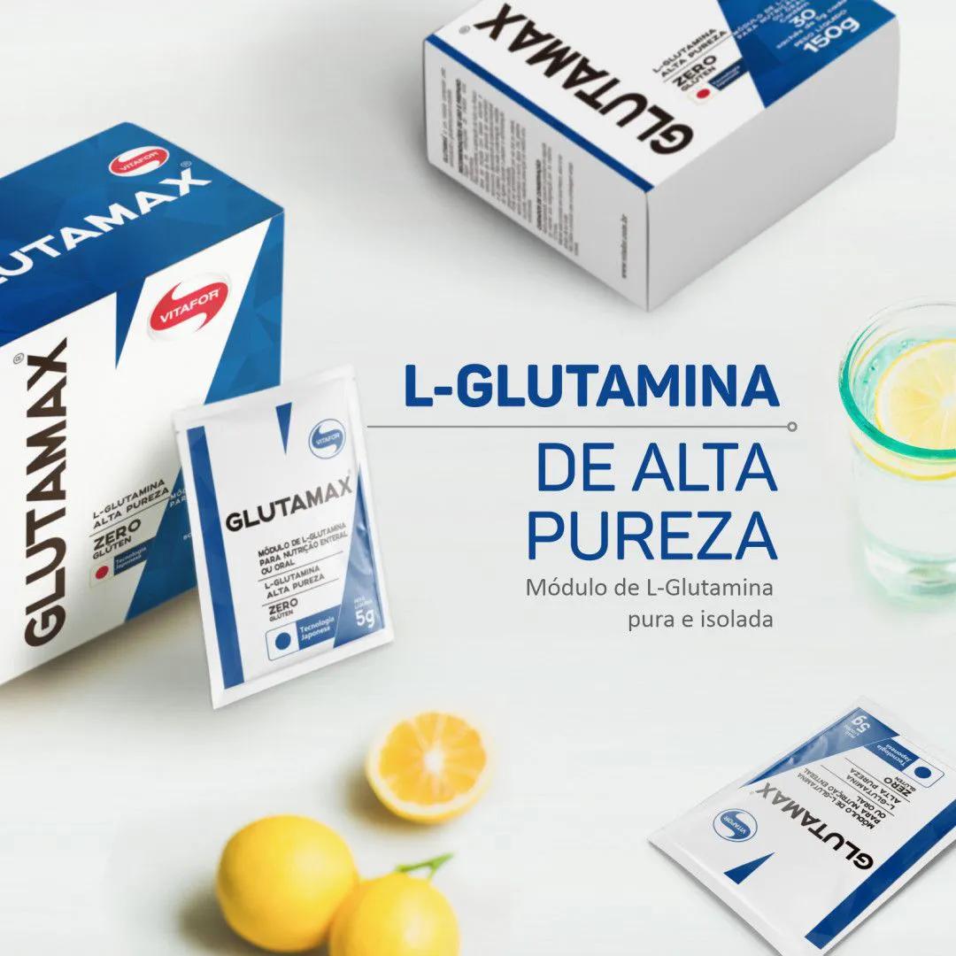 GLUTAMAX 100% L-Glutamina Sachê Avulso 5g - Vitafor