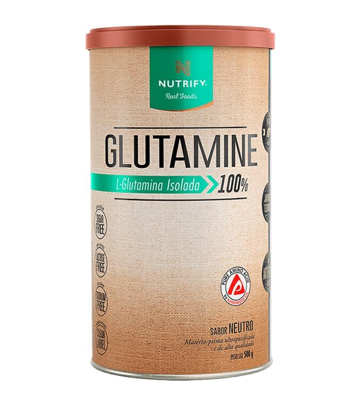Glutamine 100% L-Glutamina Isolada 500g- Nutrify